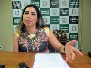 A delegada Valéria Martirena, de Brasília, diz que a região não está na rota do turismo sexual (Foto: Lucas Nanini/G1 DF)