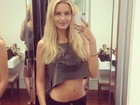 Yasmin Brunet exibe barriga chapada em foto no Instagram