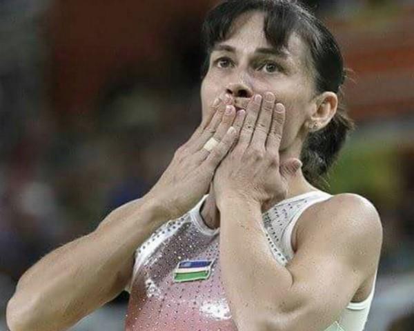 Oksana Chusovitina, 41 anos, é atleta do Uzbequistão (Foto: Reprodução/Instagram)