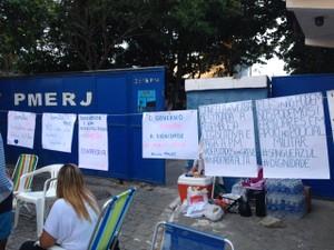 Ato pede melhores condições de trabalho (Foto: Narayanna Borges/Inter TV)