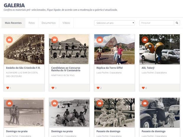 Memória dos habitantes é o fio condutor do acervo online sobre a história do Rio (Foto: Reprodução/Memória Carioca)