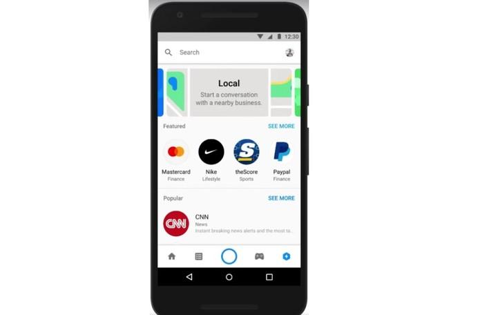 Agora é possível encontrar empresas direto no Messenger (Foto: Divulgação/Facebook)