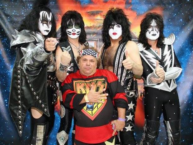 O Kiss é uma das bandas favoritas de Cláudio Maradona. (Foto: Cláudio Maradona/ Arquivo pessoal)