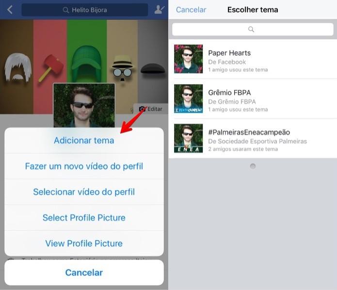 Como Adicionar Um Tema A Sua Foto De Perfil Do Facebook Pelo Celular