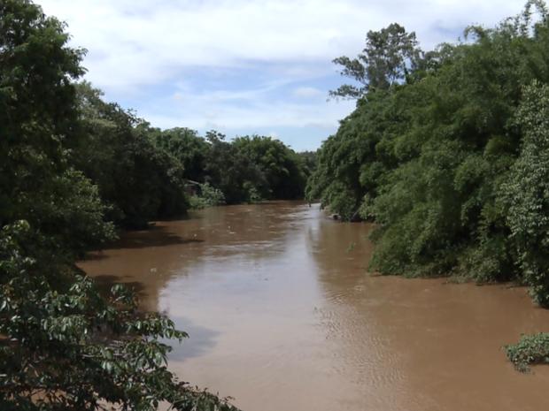 Rio Atibaia em Campinas (SP) (Foto: Reprodução/ EPTV)
