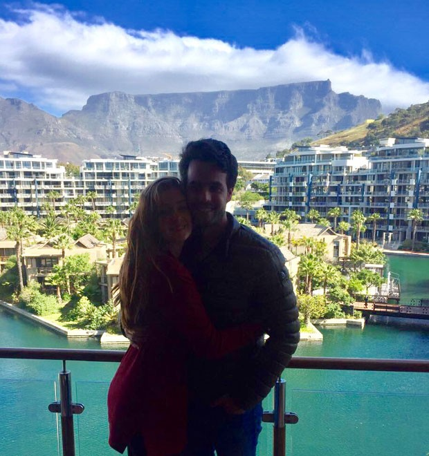 Marina e Xande em Cape Town (Foto: Divulgação)