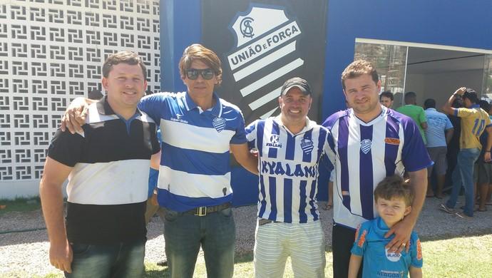 Fábio, Raniel Holanda, Thiago Mendonça e Lizandro (Foto: Augusto Oliveira / GloboEsporte.com)