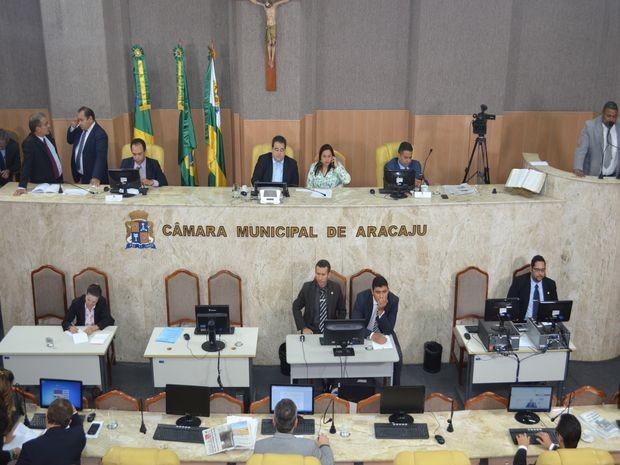 Câmara Municipal de Aracaju  (Foto: Tássio Andrade/G1)