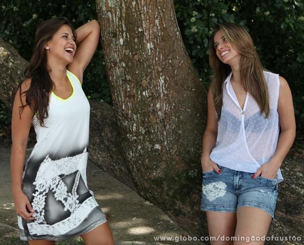 Bailarinas do Domingão exibem looks que irão dominar no verão (Foto: Carol Caminha/ TV Globo)