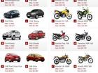 Veja 10 carros e 10 motos mais vendidos em setembro de 2013