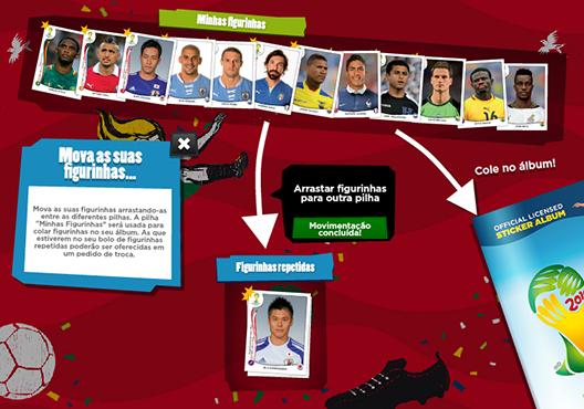 screenshot de Álbum Virtual da Copa do Mundo 2014
