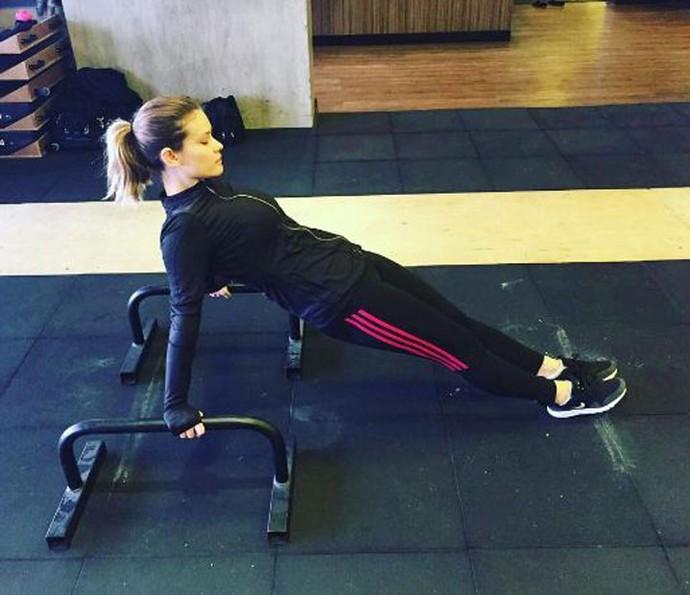 Karen malha e faz crossfit para manter a boa forma (Foto: Arquivo Pessoal)