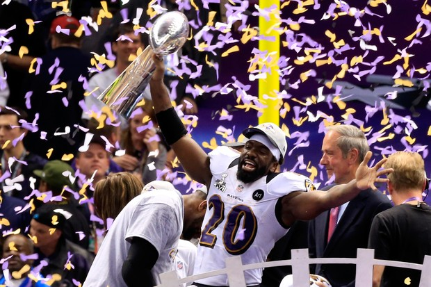 Ed Reed comemorando o título do Baltimore Ravens (Foto: Getty Images)