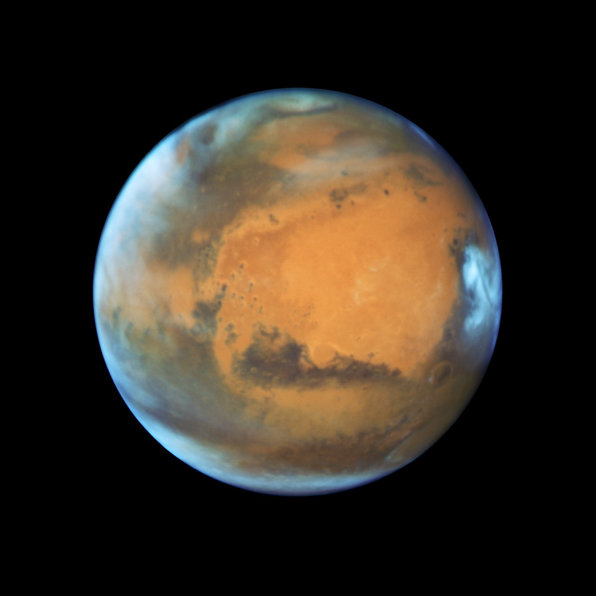 Marte fotografado pelo Hubble