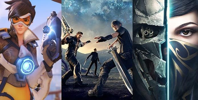 Overwatch , Final Fantasy 15 e Dishonored 2 foram os melhores jogos de 2016 (Foto: Reprodução / TechTudo) (Foto: Overwatch , Final Fantasy 15 e Dishonored 2 foram os melhores jogos de 2016 (Foto: Reprodução / TechTudo))