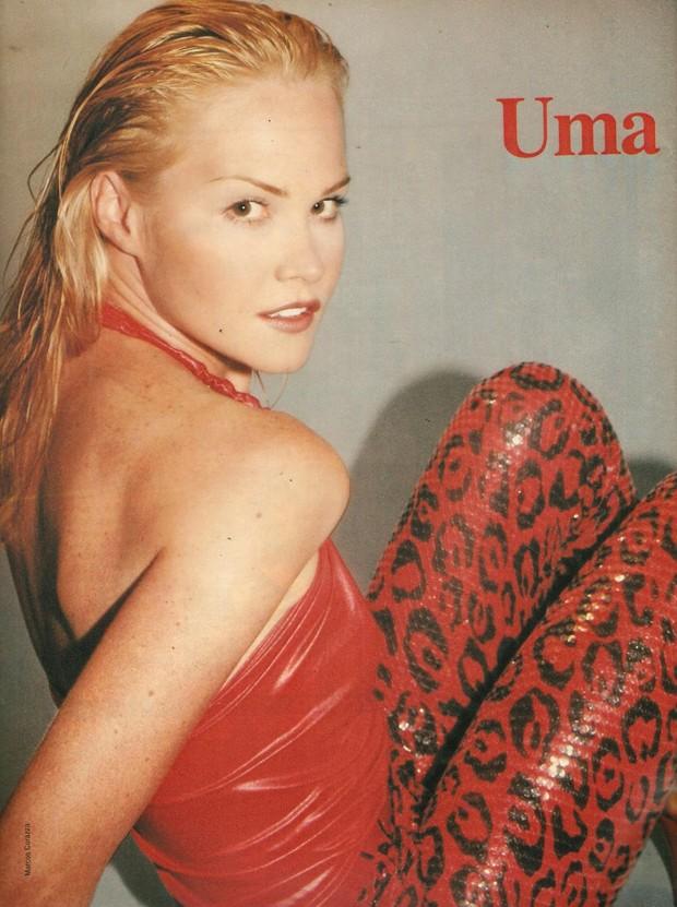 Cláudia Liz nos anos 90 (Foto: Reprodução)