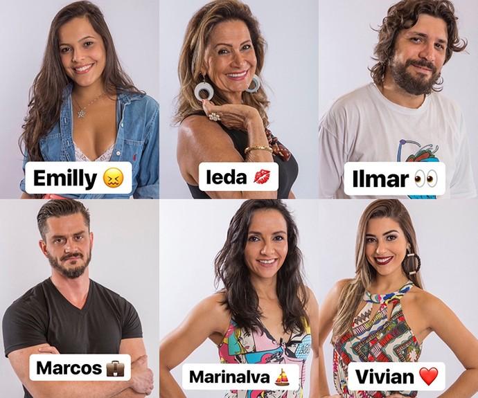 Veja os emojis que Daniel deu para cada brother (Foto: Reprodução/Internet)