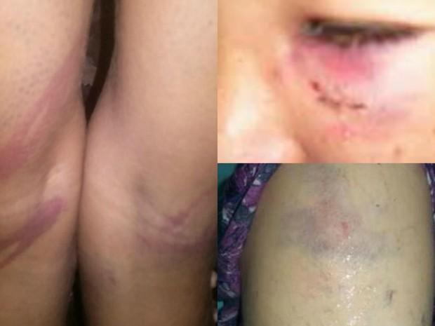 Presas estariam sendo agredidas por agentes do Bopo, segundo familiares  (Foto: Arquivo pessoal)