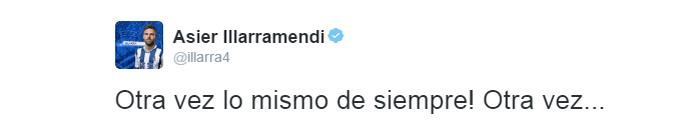 Illarramendi reclamação twitter (Foto: Reprodução/Twitter)
