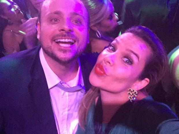 Selfie de Fernanda Souza no casamento de Preta Gil (Foto: EGO)