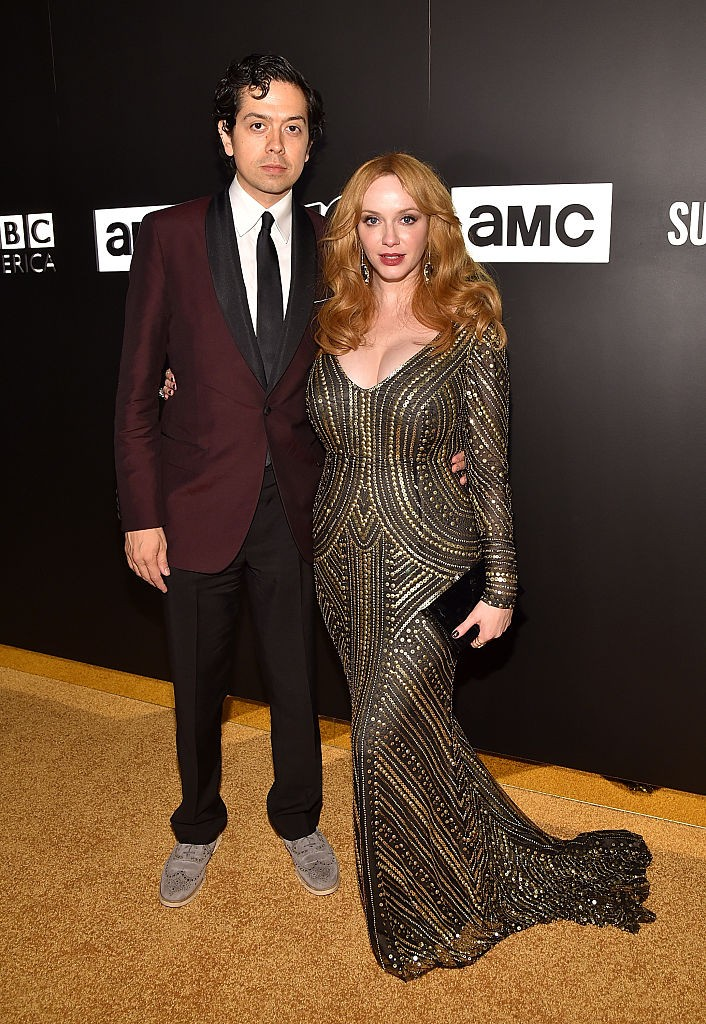 Christina Hendricks e Geoffrey Arend (Foto: Getty Images)