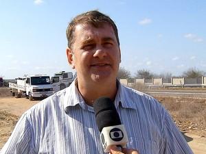 Ivar Smith, organizador da paralisação realizada por caminhoneiros na BR-304, em Mossoró  (Foto: Reprodução/Inter TV Cabugi)
