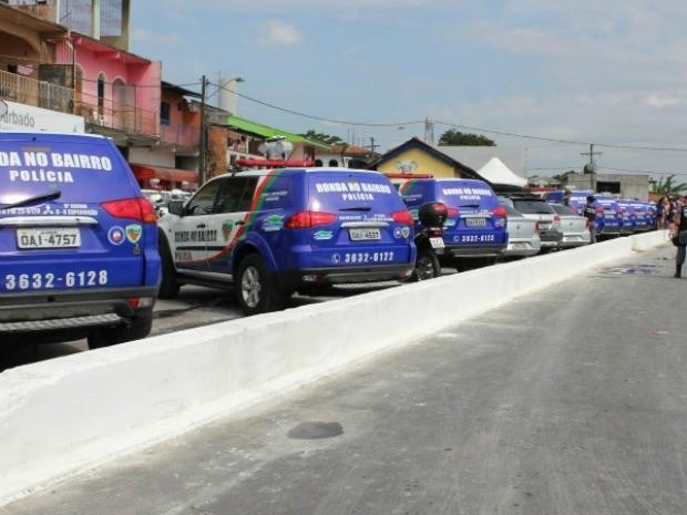 Viaturas vão auxiliar no trabalho no Ronda no Bairro (Foto: Ana Graziela Maia/G1 AM)