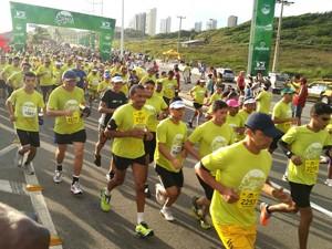 Participantes na Corrida São Luís (Foto: Bruno Alves / GloboEsporte.com)