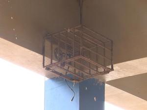 Cameras de segurança forem levadas em assalto na escola de Cruz Alta  (Foto: Reprodução/RBSTV)