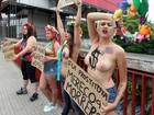 Ativistas do Femen protestam em SP contra assassinatos de prostitutas
