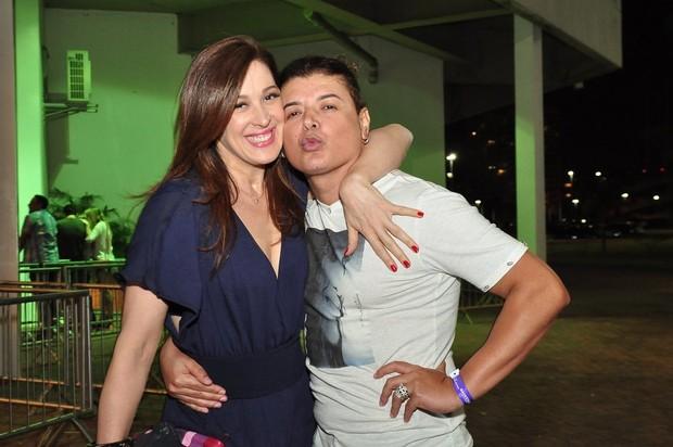 Claudia Raia e David Brazil vão ao show de Ivete Sangalo (Foto: Roberto Teixeira/ EGO)