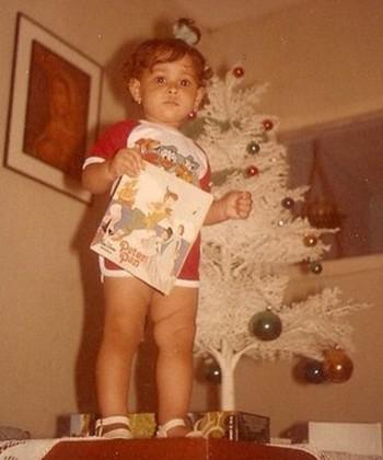 Jaqueline criança vôlei (Foto: Arquivo pessoal)