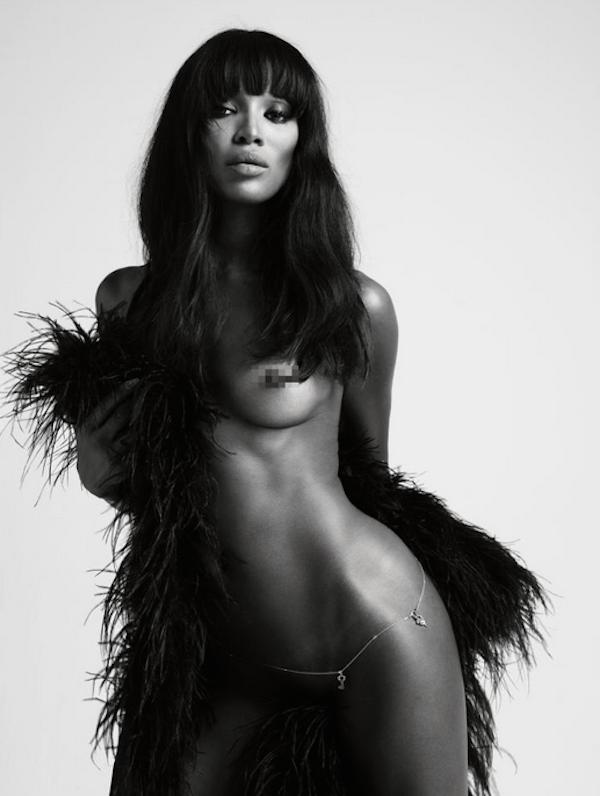 Um registro do ensaio da modelo Naomi Campbell para a revista Love (Foto: Instagram)