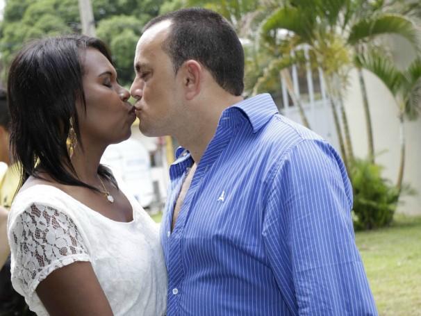Ação Global em Barra Mansa proporcionou o casamento de Marcilene e Vanderlei dos Santos (Foto: Renato Moura/Voz das Comunidades)