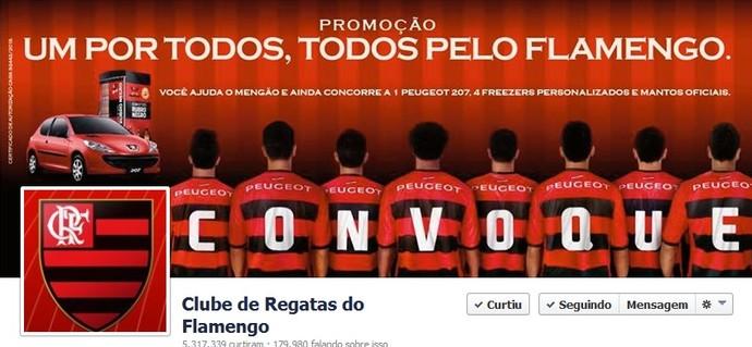 Flamengo quer aumentar seu número de seguidores no Facebook (Foto: Reprodução)
