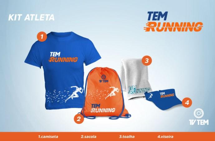 Confira quais itens serão entregues no kit de corrida do TEM Running 2017 (Foto: Marketing/TV TEM)