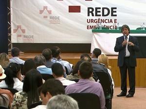 Oficina discute implantação da Rede de Urgência e Emergência (Foto: Reprodução/TV Integração)