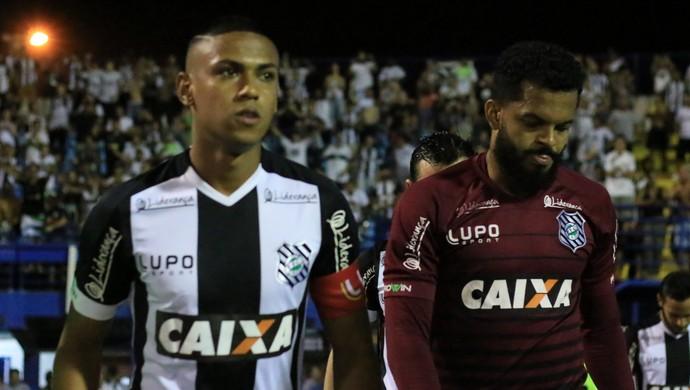 Bruno Alves e Thiago Rodrigues Figueirense (Foto: Luiz Henrique/Figueirense FC)