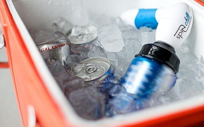 Cooler permite gelar bebidas em um minuto (Foto: Divulgação/Spin Chill)