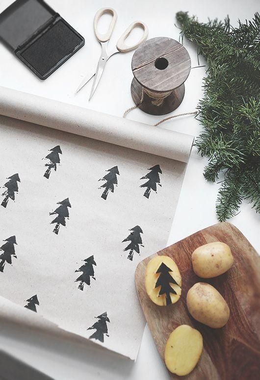 Carimbo de batata (Foto: Pinterest)