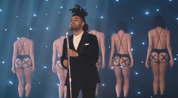 The Weeknd no clipe de 'Earned it', da trilha de 'Cinquenta tons de cinza' (Foto: Divulgação)