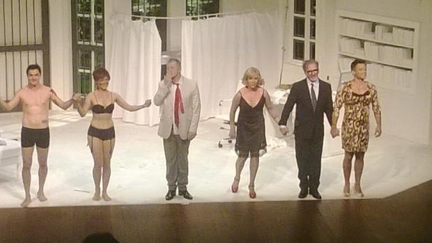 Arlete Salles no palco (Foto: EGO)
