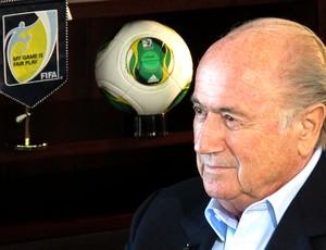 Blatter entrevista Fifa (Foto: Vicente Seda)