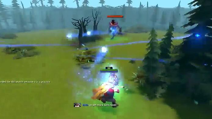 Modificação de DOTA 2 transforma o game em um jogo de tiro em terceira pessoa (Foto: Reprodução/YouTube)