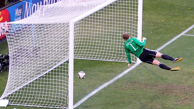 gol lampard inglaterra alemanha copa do mundo áfrica do sul (Foto: agência Getty Images)