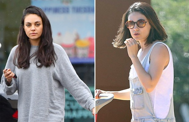 Mila Kunis antes e depois (Foto: The Grosby Group)