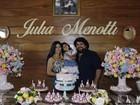 Fabiano Menotti faz festa para a filha com quitandinha fit e clima country