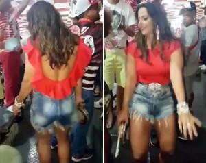 Viviane Araújo mostra seu samba no pé e rebolado! Assista ao vídeo! (Foto: Gshow)