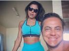 Thammy Miranda posa bronzeado ao lado de Andressa Ferreira
