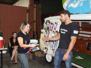 Empresário no lançamento da marca em Campo Grande (Foto: Graziela Rezende/G1 MS)